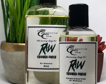 RAW Shower Fresh Men's Oil, Hair Oil, Body oil