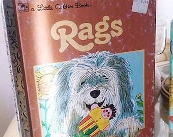 A Little Golden Book RAGS 1971 Vintage Book, Childrens Book, Dog Stories, Bedtime Story, Stocking Stuffer, Gifts for Children, Dog Lover