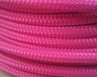 1/4 Polyester Halter Rope. Fuchsia. Made in USA