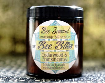 Bee Sensual - Massage Oil Candle - Cedarwood & Frankincense