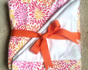 Pink Dahlia Blanket-Great Carseat Cover