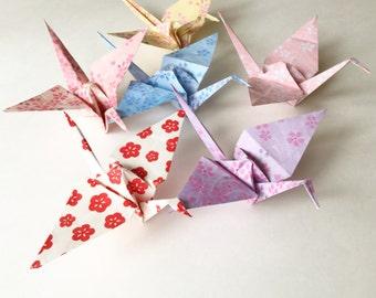 12 Paper Cranes