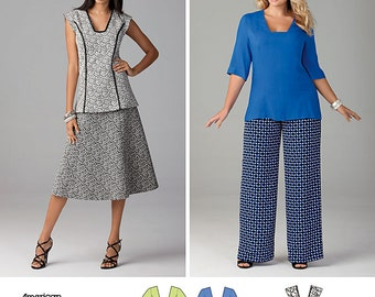 OUT of PRINT simplicitySimplicity Pattern 1431 Misses' and Miss Plus Dress or Tunic, Pants and Skirt