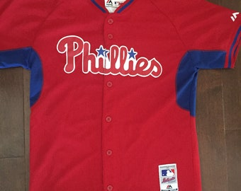 Youth Majestic Philadelphia Phillies Jersey - Sz Large
