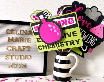 Perfect Chemistry Photo Booth Props | Science Photo Booth Props | Nerdy Photo Booth Props | Chemistry Bridal Shower | Science Bridal Shower