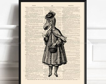 Dodo Bird Poster, Unique Gift, Wonderland Art Decor, Alice Adventures Art, Gift for Her 1st, Funny Animal Print, Alice Nursery Decor 275