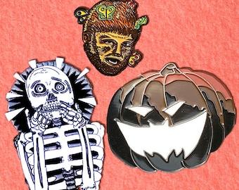 October Birthday Halloween Pin | Enamel Pin Pack | Horror Enamel Pin | Skeleton Enamel Pin | Halloween Enamel Pin | Enamel Pin Set