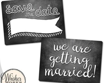 Plastic Photography Prop Sign - Save the Date / Engagement Photos