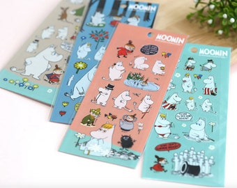Moomin cute kawaii retro pvc sticker sheets