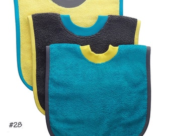 Pullover Baby to Toddler Bibs -- Set of Three -- Set 28