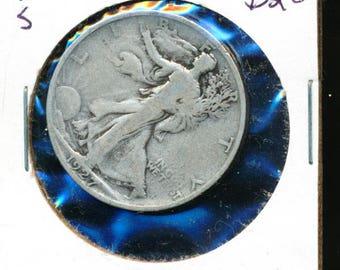1927 S Walking Liberty Half Dollar Silver