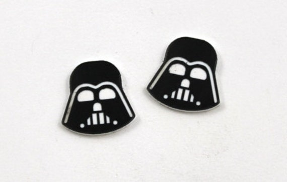 Laser Cut Supplies- Set of 8. Darth Vader Charms-Acrylic and Wood Laser Cut-Jewellery Supplies- Little Laser Lab Wood and Acrylic Products