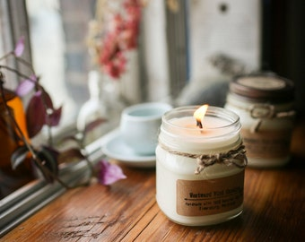 Lemongrass Natural Soy Wood Wick Candles