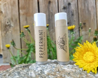Peppermint Beeswax Chapstick, All Natural Lip Balm, Made In Montana!