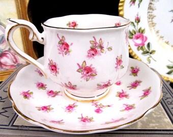 Royal Albert Tea Cup and Saucer Pink Rose Chintz Teacup Crown Cup & Saucer BR