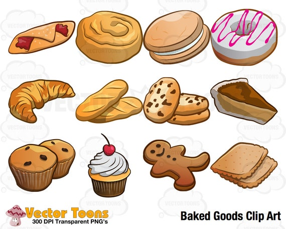 baked goods clip art digital clipart digital graphics rh etsy com christmas baked goods clipart christmas baked goods clipart