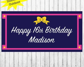 "18""x30"" Personalized Party Banner 