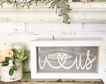 I LOVE US Wood Sign, Wedding Sign, Home Decor, Gifts for Her, Hand Painted Sign, Wall Decor, Wedding Gift, Bridal Shower, Housewarming Gift