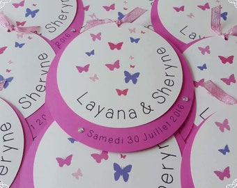 Share round Butterfly theme