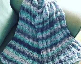 Blue variegated scarf