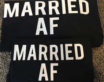 Married AF couple shirts
