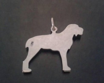 italian spinone silhouette pendant sterling silver made by saw piercing 2.5cm wide 1""