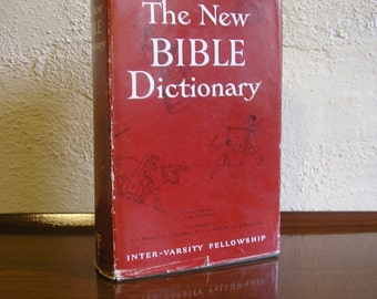 Vintage 1960s book The New Bible Dictionary Douglas Inter Varsity Fellowship religion spirituality Christian scriptures reference 193