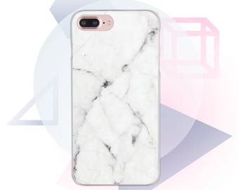 White Marble 7 iPhone Case Clear iPhone 6 Case Marble iPhone 6s Case iPhone X Case Marble iPhone 8 Case Stone 7 Plus iPhone  Cute MC1065