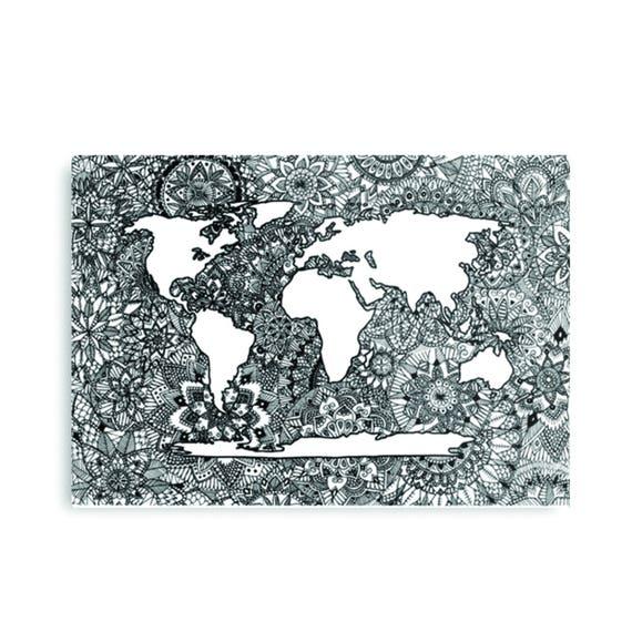 Mandala world map drawing gumiabroncs Images