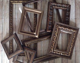 Dark Bronze Wall Frame Gallery - Set of 8 Open Wall Frames