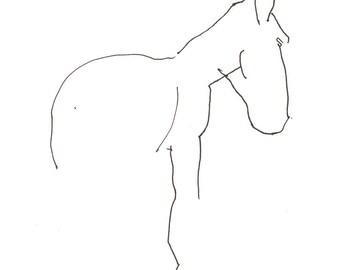 quiet horse 8X10 art print