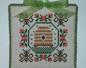 "Finished Cross Stitch ""Bee"""