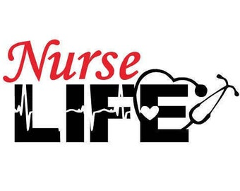Nurse Life Decal #2