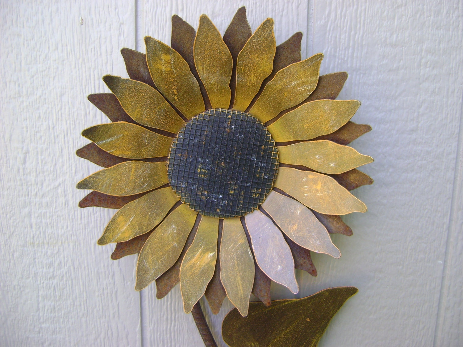 Metal Flower Wall Hanging Sunflower Metal Garden Art Sunflower Wall Art Rusty Metal