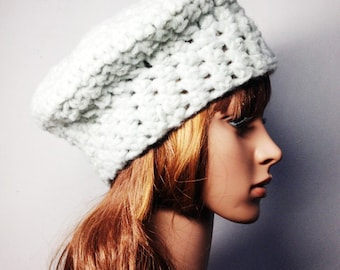 Crochet PATTERN - LEA BERET - Crochet Hat Pattern - crochet hat pattern