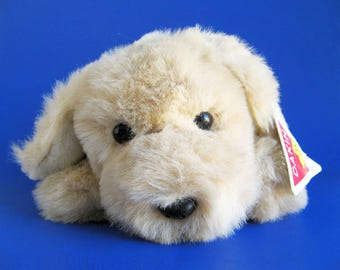 Vintage Puppy Dog Stuffed Animal by Dakin with Original Tags Stuffed Animal 1980s Toy Plush