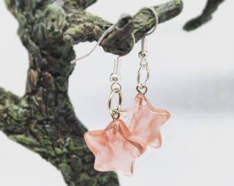 Strawberry Quartz Star Earrings