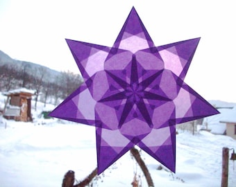 Window star Steiner Waldorf nature Table Spring games Montessori paper Decoration colorful Origami Anemone Meditation awakening