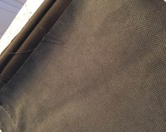 4 yards BROWN chevron upholstery fabric