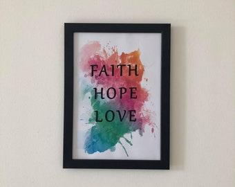 Faith Hope Love Printable