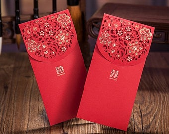 50 x Wedding Red Packet - Double Happiness - Chinese Wedding