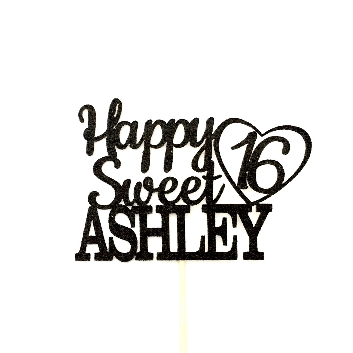 any name happy sweet 16 birthday cake topper 16th birthday rh etsy com sweet 16 logo maker sweet 16 logo cliparts