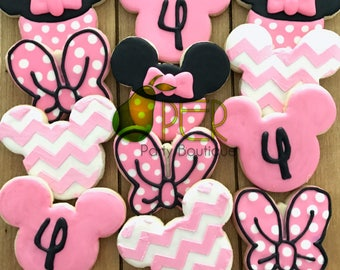 Minnie Mouse Birthday Party Favor Personalized Cookies