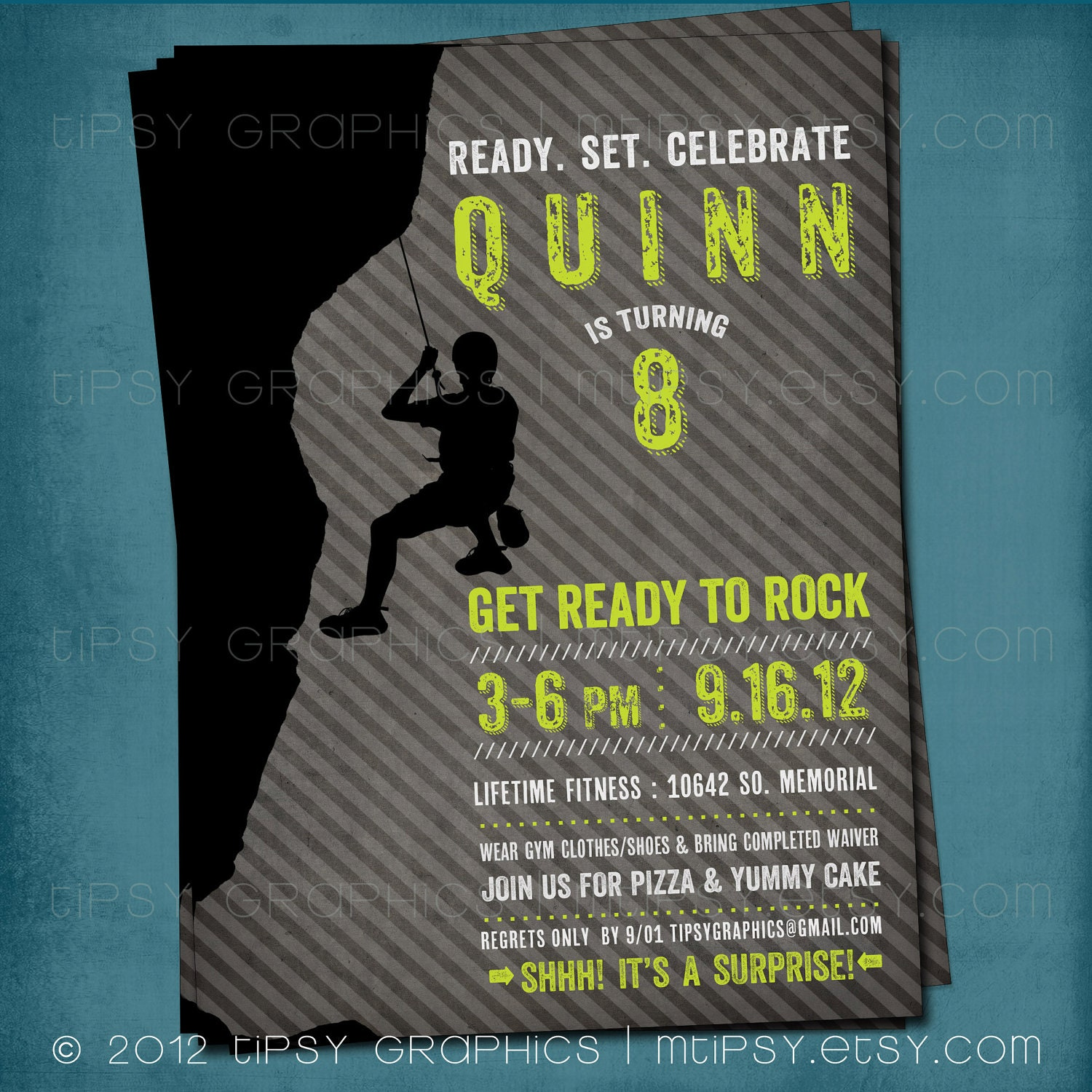 Ready to rock rock climbing birthday party invite for big zoom filmwisefo