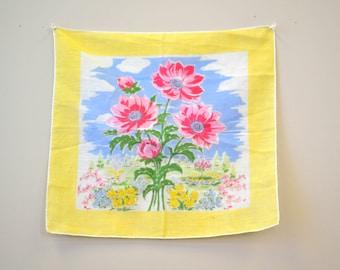 1950s Floral Print Hankie