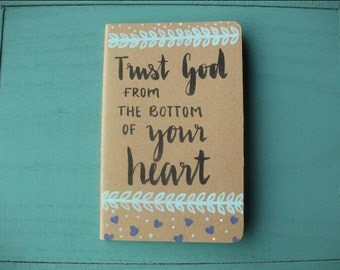 Handpainted Bible Quote Journal Notebook Floral