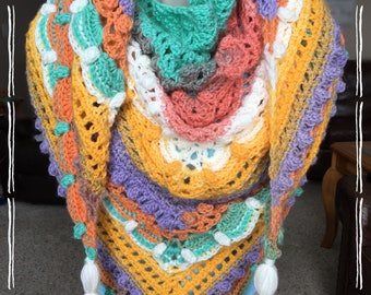 Women's Winter/Spring Lost In Time Shawl