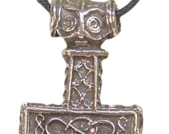 Thor's Hammer Necklace Pewter Pendant Viking Mjollnir Norse Odin Mjollnir  4930