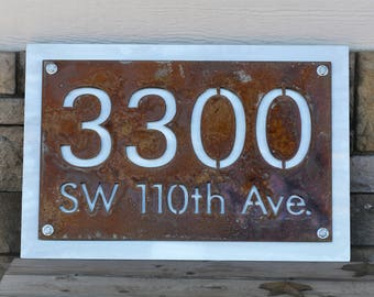 Personalized Address Number Street Name Sign, House and Street Address Sign, Small Custom House Number, Custom Address Sign, Small or large