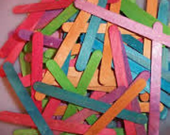 """Colored wooden popsicle craft sticks 